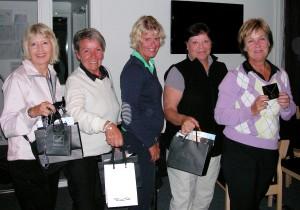 Monica Frii (5), Eva Larsson (4), Eva Lundmark (3) Mia Kjellgren (2) och Susanne Wahlund (1)